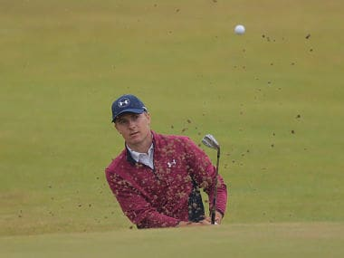 British Open 2017: Jordan Spieth clinches solo lead after weather-plagued second round