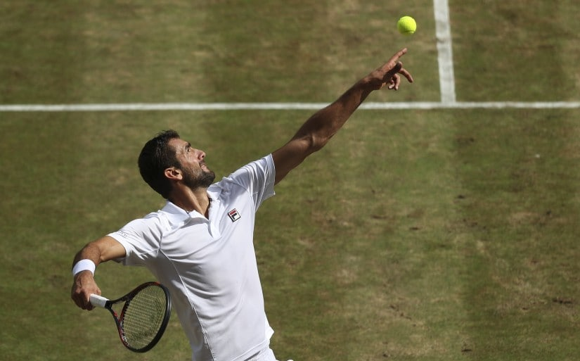 Marin Cilic won the US Open in 2014 and will be hoping to become only the second Croatian to clinch the Wimbledon title. AP