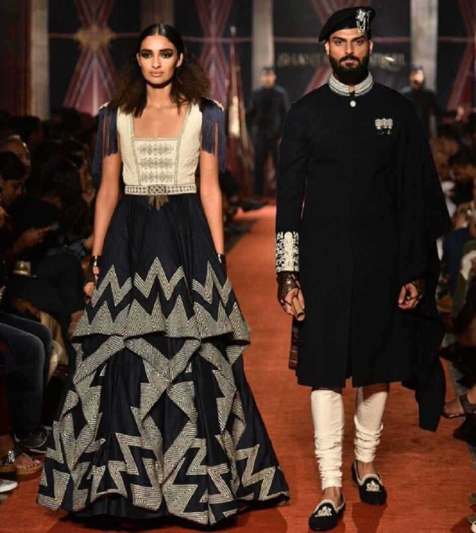 The collection is inspired by armed forces. Images from Twitter/shantanunikhil.