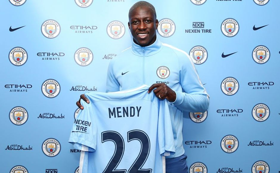 Benjamin Mendy became the world's most expensive defender when he left AS Monaco to join Manchester City for £52 million. Image courtesy: Twitter/@ManCity