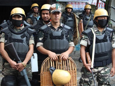 High security at Chowk Baazar, Darjeeling. Image courtesy 101Reporters.com