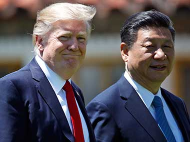 File image of US president Donald Trump and Chinese president Xi Jinping. AP