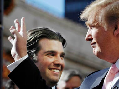 Donald Trump with his son Donald Jr. Reuters
