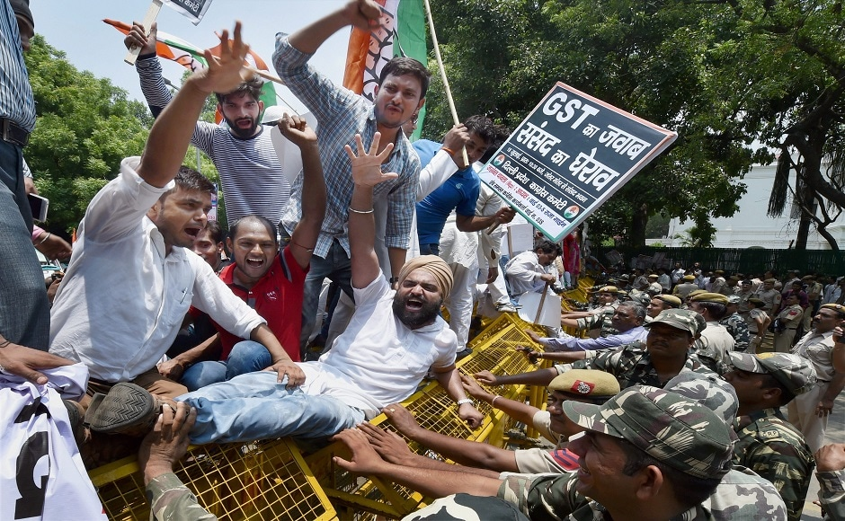 Congress said that its every worker had taken the pledge that they would not rest till they end the monster-like GST unleashed on the people. PTI