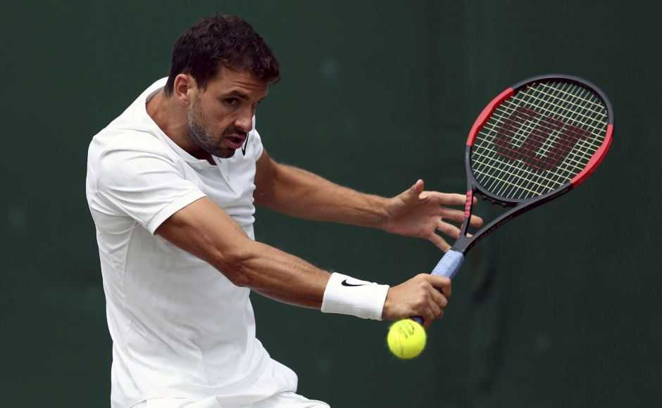 Bulgarian 13th seed Grigor Dimitrov made it to the last 16 after Israel's Dudi Sela was forced to retire due to a thigh injury. AP
