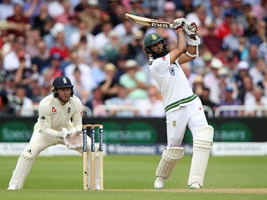 South Africa Hashim Amla never allowed the spinners to settle during his knock of 87 on Day 4. AP