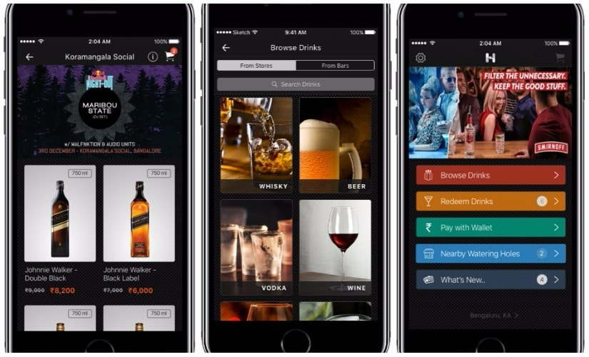 HipBar: A mobile app that moves the bar to the cloud, and promotes responsible drinking