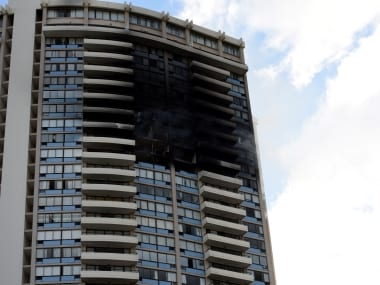 The Marco Polo building which caught fire. Reuters