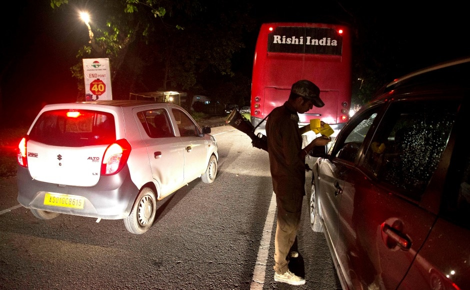 The vehicles that defy the 40 kmph speed limit along the park stretch are being fined Rs 5,000 to ensure that animals crossing the road remain safe. AP