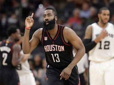 File image of Houston Rockets guard James Harden. AP