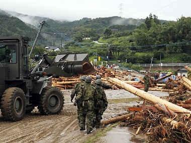 Floods have ravaged southern Japan. AP