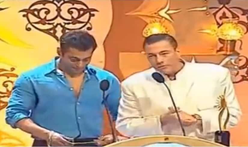 Jean Claude Van Damme with Salman Khan at IIFA Awards 2006. Screengrab from YouTube.