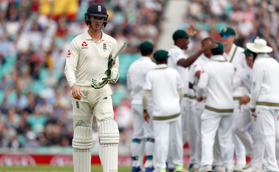 England opener Keaton Jennings' struggle continued as Vernon Philander dismissed him for 0. AP