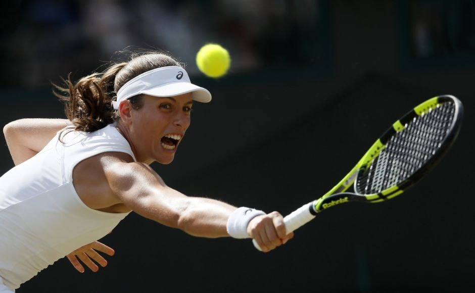 British No 1 and bookmakers' new favourite, Johanna Konta, cruised into the fourth round with a straight sets win over Maria Sakkari of Greece.