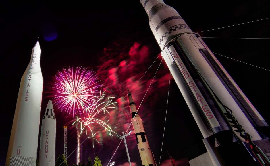 Most places mark the occasion with the Star Spangled Banner and red, white and blue fireworks streaming across the night sky. AP