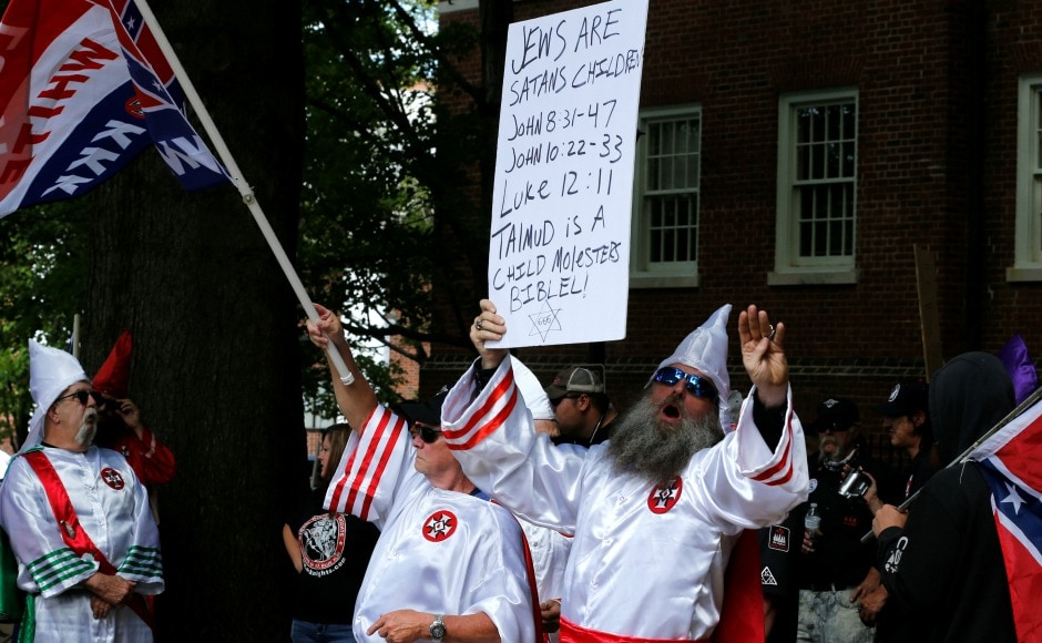 Just a few of the demonstrators wore the white hoods emblematic of the group and part of the costume associated with lynchings and cross burnings. In this town of handsome red brick buildings, the decision in February to remove the Lee statue after years of debate has left deep wounds. Reuters