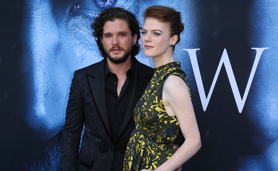 Kit Harington, left, and Rose Leslie. Photo by AP
