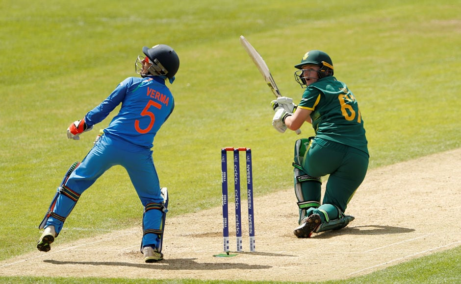 But then Lizelle Lee got into her elements and smashed the Indian bowlers all over the park. Reuters