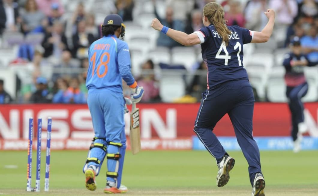 Smriti Mandhana, who began the tournament brilliantly, was dismissed for a duck by Anya Shrubsole in the second over. AP