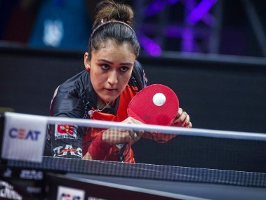 Manika Batra in action. Image courtesy: Ultimate Table Tennis
