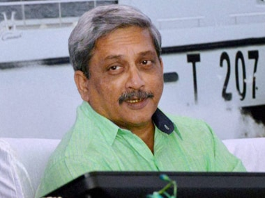File image of Manohar Parrikar. PTI