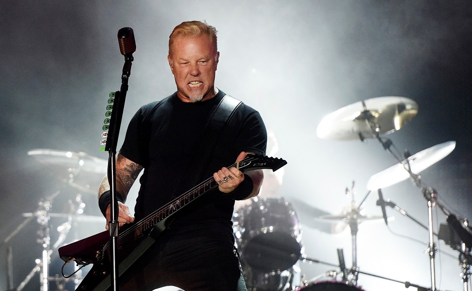 James Hetfield of Metallica. Photo by AP