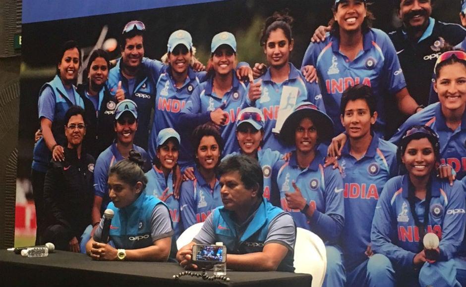India women's team captain Mithali Raj faces the media in Mumbai. BCCI