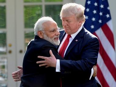 File image of Narendra Modi and Donald Trump. PTI