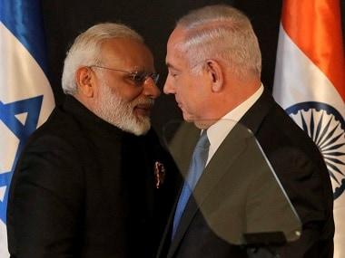 Prime Minister Narendra Modi and his Israel counterpart Benjamin Netanyahu . AP