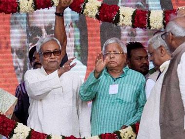 File image of Nitish Kumar and Lalu Prasad Yadav. PTI