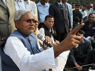 File image of Nitish Kumar. AFP