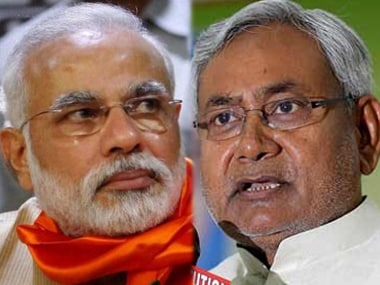 File image of Prime Minister Narendra Modi and Bihar Chief Minister Nitish Kumar. PTI