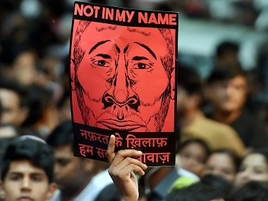 'Not in my name' protests were launched across India to counter the spate in lynching incidents. PTI