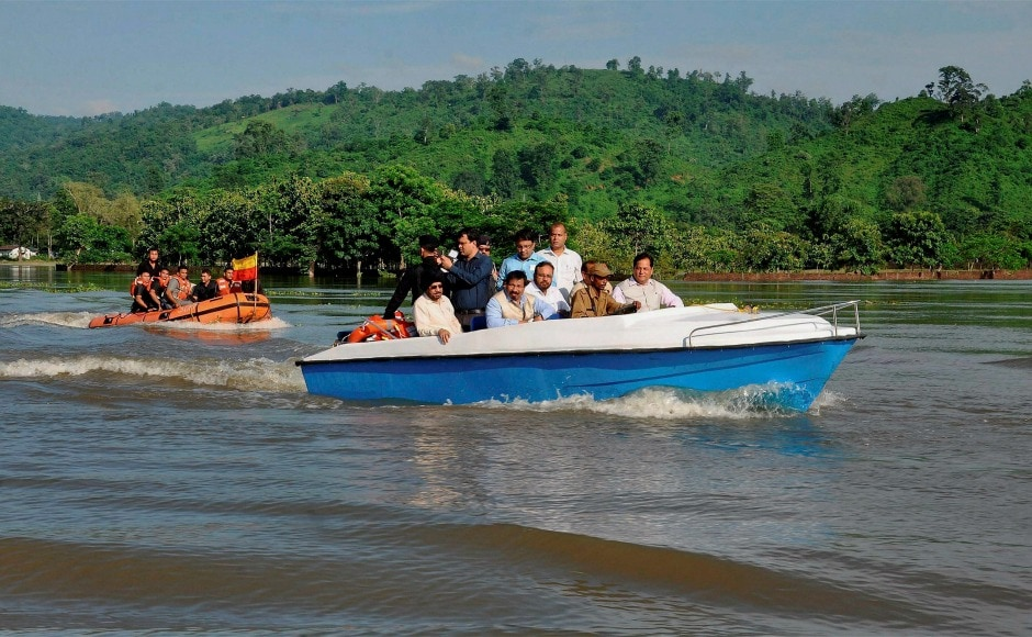 Assam chief minister Sarbananda Sonowal on Wednesday visited the flood-hit areas and assured help. PTI