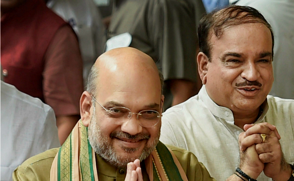 BJP president Amit Shah along with Parliamentary affairs minister Ananth Kumar cast their vote in New Delhi. BJP member Ram Nath Kovind, who is one of the presidential nominees, has the backing of all the party's allies besides several regional parties. PTI