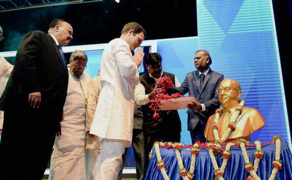 Rahul Gandhi alleged that union government was trying to distort the Constitution, which was drafted by BR Ambedkar, and implement the RSS agenda. PTI