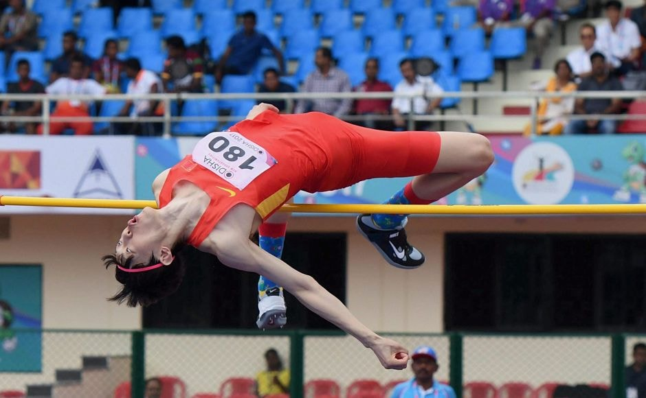 World Championships Silver medalist China's Zhang Guowei competes in the high jump event at the Asian Athletics Championships. PTI