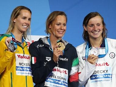 FINA World Championships: Federica Pellegrini pips favourite Katie Ledecky to win 200m freestyle gold