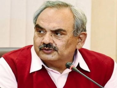 File image of Union home secretary Rajiv Meherishi. IBN live