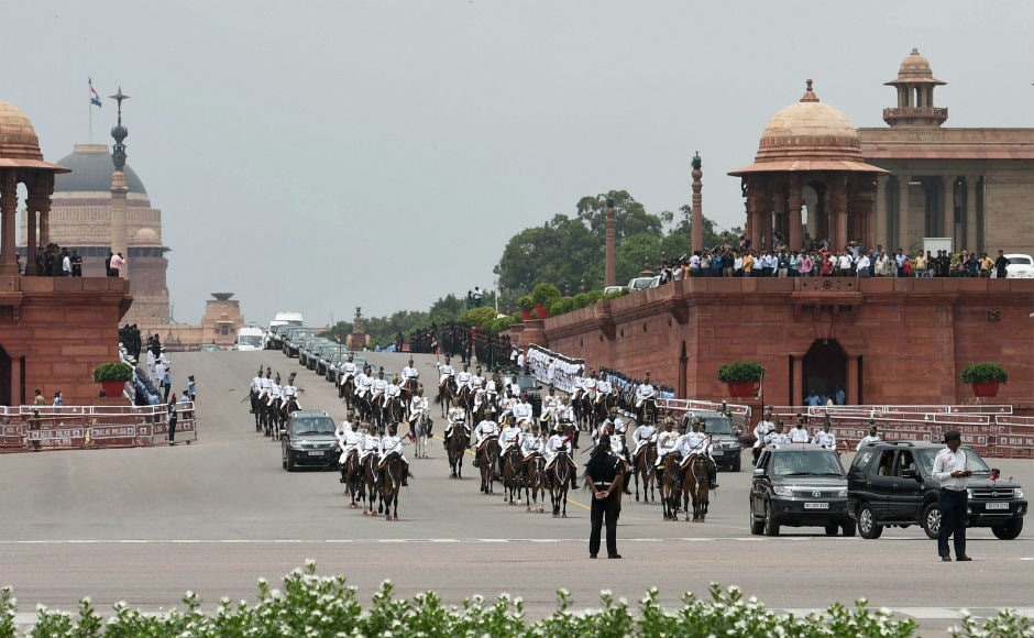 The ceremony ended after Kovind accompanied the outgoing Pranab Mukherjee to his residence 10 Rajaji Marg. PTI