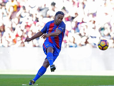 Former FC Barcelona player Ronaldinho will be the biggest attraction for the Pakistan crowd. AP