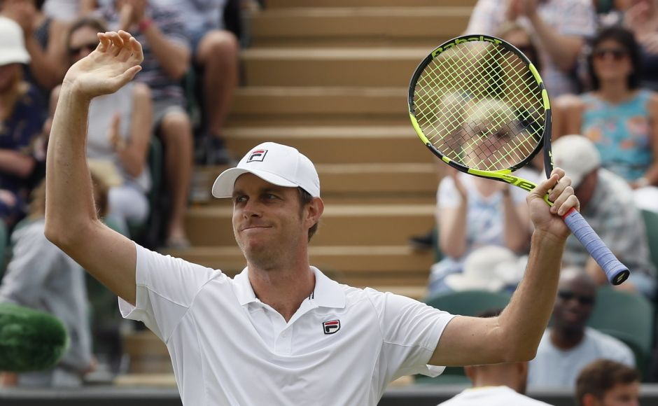 Sam Querrey took only four minutes on court Saturday to beat Jo-Wilfried Tsonga on Day 6 after the match was suspended on Friday due to bad light. AP
