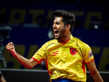 Ultimate Table Tennis 2017: Sanil Shettys effective forehand topspin helps Falcons TTC thump Yoddhas