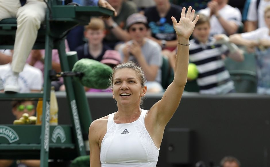 Simona Halep sent Victoria Azarenka packing in the fourth round to end the Belarussian comeback. AP
