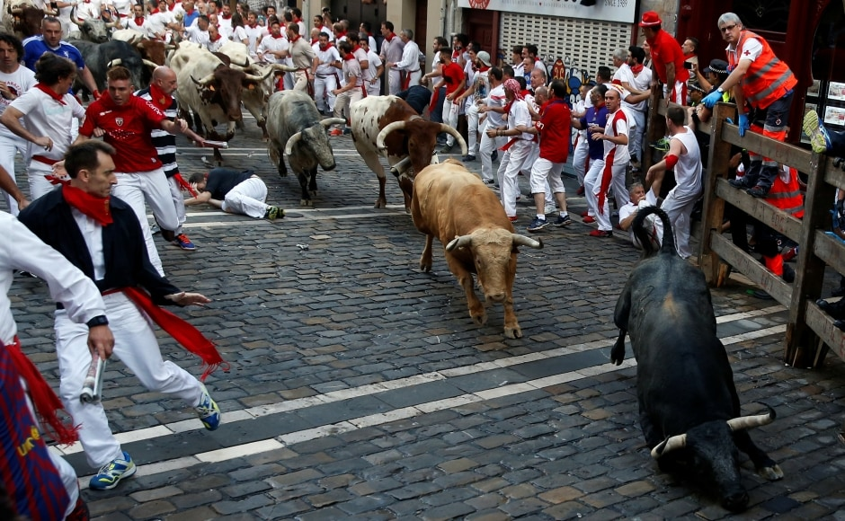 Twelve people were gored in 2016's San Fermin runs. In all, 15 people have died from being gored at the San Fermin festival since record-keeping began in 1924. Reuters