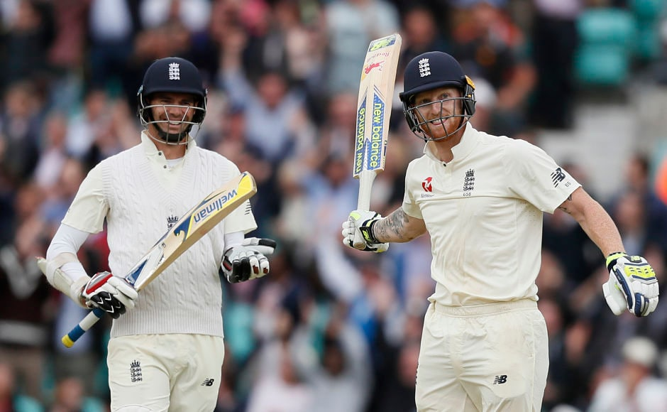 England's vice-captain Ben Stokes came to the team's rescue and slammed a disciplined century. The hosts were bowled out for 353 eventually. AP