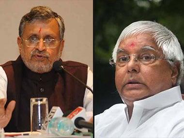File image of Sushil Modi and Lalu Prasad Yadav. IBN live