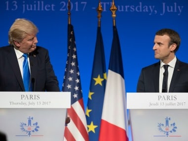 Trump-Macron in Paris: Divided over climate accord, leaders try to find common ground over Russia, Syria