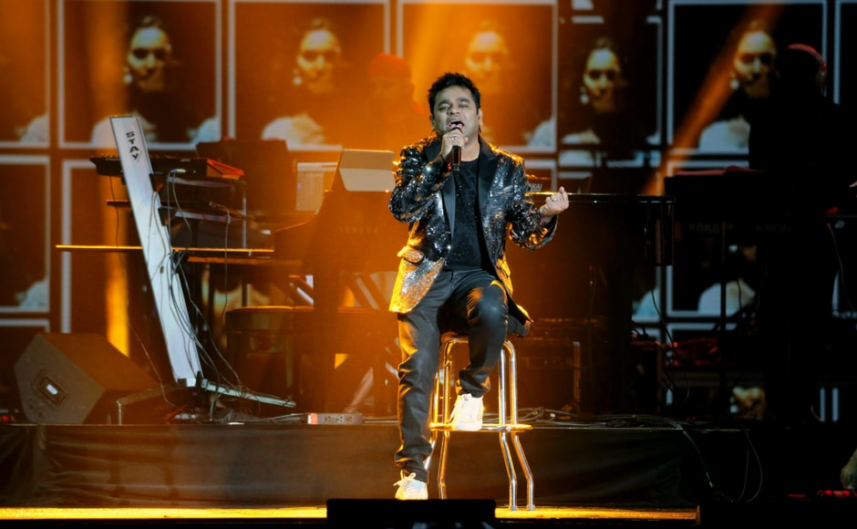 Musician AR Rahman performs during the International Indian Film Academy Rocks show at MetLife Stadium in East Rutherford, New Jersey, U.S. (Reuters)