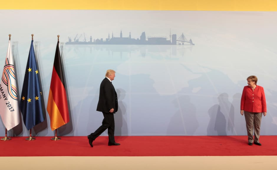 Merkel's prospects of finding common ground issues such as climate change and multilateral trade look uncertain at President Donald Trump's first G-20 summit. Trump's